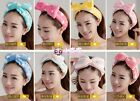 Butterfly end bath wash makeup velvet ribbon hair band Shower Caps lovely ribbon