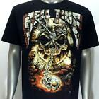 g4 Rock Chang T-shirt Tattoo Skull Glow in Dark Metal Ghost Halloween Cotton Men