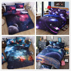 3D Galaxy Duvet Quilt Doona Cover Set Single/Queen/King Size Bed Pillow Case Set