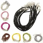 10Pcs Real  Leather Chains Necklace Charms Findings Braided String Cord DIY 3mm