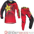 Fly Racing 2017 Kinetic Rockstar Motocross Jersey & Pants Red Black Enduro Kit