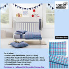 6 Pce - 100% Cotton Gypsy Kids Cot in a Box Quilt Cover Set + Sheet Set