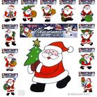 WINDOW STICKERS SANTA CLAUS 12 small styles for Father Christmas Party