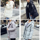 New Womens Ladies Warm Winter Thicken Cotton Jacket Long-style Hooded Coat