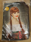 Adult Red/Brown Braided With Bangs Wig