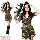 Private Tease Army Fancy Dress Ladies Military Uniform Adult Women Costume Oufit