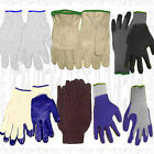 L-KNIT JERSEY Cotton Leather Liner Unisex Work Glove Find Men Women Garden