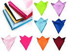 Men Stylish Business Square Satin Wedding Party Pocket Hanky Kerchief Bandanna