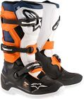 New 2017 Youth Kids Alpinestars Tech 7 Motocross Boots BLACK/ORANGE/WHITE/BLUE
