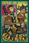STAR WARS REBELS - FRAMED TV SHOW POSTER / PRINT (POP-ART - DEFEAT THE EMPIRE) $59.95 USD on eBay