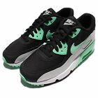 Nike Air Max 90 Mesh GS Black Green Kids Girls Running Shoes Sneakers 833340-003