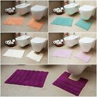 New Quality 100% Cotton Bathroom Mats Set - Washable Bath & Pedestal Mat Sets