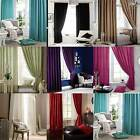 Catherine Lansfield Home Faux Silk Pencil Pleat Lined Curtains