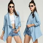 Women Fashion Outwear Long Sleeve Blazer Cardigan Coat Overcoat Jacket New S0BZ
