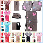 For LG Leon 4G LTE C40 H340N Leather Handmade Bowknot Card Case Cover+Gift Strap
