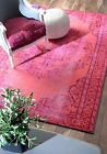 New Windsor Overdyed Vintage Grove Traditional Oriental Pink Sale Area Rug