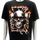 r94 Sz XL Rock Eagle T-shirt Tattoo Men Skull Ghost Indie Graffiti Cross Design