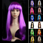 Fancy Dress Halloween Womens Long Straight Hair Wig Party Anime Cosplay Full Wig