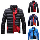 New Men's Winter Hooded Thick Padded Jacket Outwear Stand Collar Coat Warm Parka