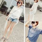 Lady's Crochet Sunscreen Swimwear Bikini Cover Up Beach Knitting Shirt Tops DZ88