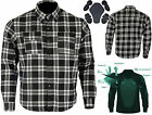 M'rcycle Cotton Flannel Lumberjack Shirt Lined WITH DuPont™ KEVLAR® ARAMID BLACK