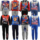 Boys Pyjama Set Nickelodeon Marvel Sweatshirt Bottom Paw Patrol Spiderman Fleece