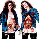 Deluxe Pregnant Zombie Baby Ladies Fancy Dress Halloween Womens Adults Costume
