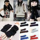 Fashion Women Knitted Fingerless Winter Gloves Unisex Soft Warm Long Mitten