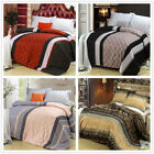 Striped Quilt/Doona Cover Pillowcases Set Double Queen King Bed Size Duvet Cover