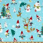 GNOMES FOR THE HOLIDAY CHRISTMAS ELF QUILT SEWING CRAFT FABRIC Free Oz Post