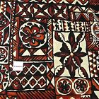 Traditional Hawaiian Tapa Tribal Print, Brown Black, Cotton Fabric by Hoffman