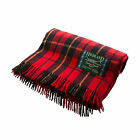 Great Gift: Highland - Edinburgh 100% Wool Wallce Tartan Blanket / Rug
