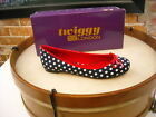 Twiggy London Navy Polka Dot & Red Bow Ballet Flats NEW