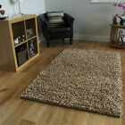 Beige Extra Thick Textured Pile Shaggy Carpet Cheap Heavy Weight Soft Wool Rugs