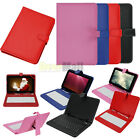 "USB Keyboard + PU Leather Folio Stand Cover Case For 7"" 9"" 10'' 10.1"" Tablet PC"