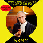 JUDGE RINDER  -58 mm BADGE-FRIDGE MAGNET OR HANDBAG MIRROR CD12345678