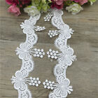 1/5/10 Yards Butterfly Lace Edge Trim Wedding Dress Ribbon Applique Sewing Craft