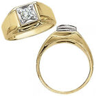 0.15 Carat G-H Diamond Mens Solitaire Anniversary Ring 14K White Yellow Gold