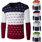 New Mens Autumn Xmas Sweater Slim Fit Long Sleeve Knitwear Casual Pullover Top