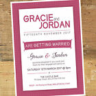 Personalised Engagement Party Invitation / Invites BE002 Modern A6 Glossy Card