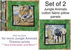 Animals Safari Jungle cotton quilting panel fabric *Choose design