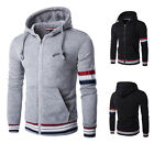 Stylish Mens Plain Hooded Sweatshirt American Style Hoodie Sweater Top Size XS-L
