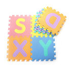 10 x Baby Soft EVA Foam Play Mat Alphabet Numbers Puzzle DIY Toy Floor Tile Game