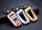 Luxury Case Cover For BMW Car Key Premium Aircraft Aluminum + 100% Real Leather