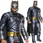 Mens Deluxe Armoured Batman Vs Superman Costume Halloween Adult Fancy Dress