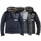 Mens Jacket Smith & Jones Hooded Top Sweat Fur Lined Casual Fashion Winter New