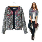 Sexy Women's Ladies Casual Floral Tops Coat Blazer Jacket Art Slim Short Suit