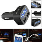 Good 4 In1 Dual USB Car Charger Adapter Voltage DC 5V 3.1A Tester For Phone EG