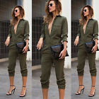 Womens Slim Evening Party Playsuit Ladies Romper Long Jumpsuit Size S-XL EW
