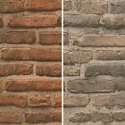 AS Creation House Brick Pattern Wallpaper Faux Effect Realistic Stone Embossed